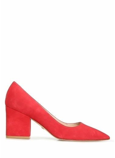 Stuart Weitzman Stuart Weitzman  Deri Topuklu Ayakkabı 101630589 Kırmızı